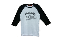 Konquer Freedom Is The Ride Baseball Shirt