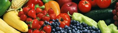 summer fruits and veggies