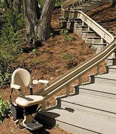 Curved Outdoor Stair Lifts