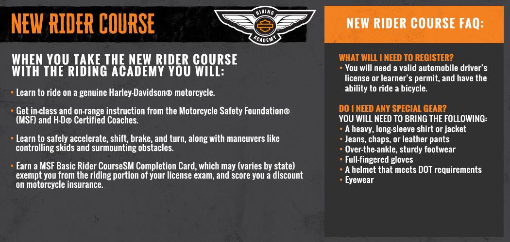 Basic Rider Course Card