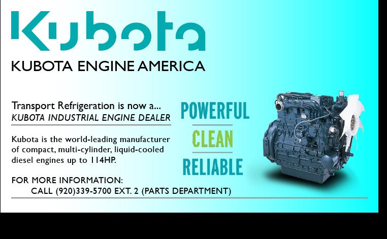 Kubota Products Transport Refrigeration, Inc  De Pere, WI