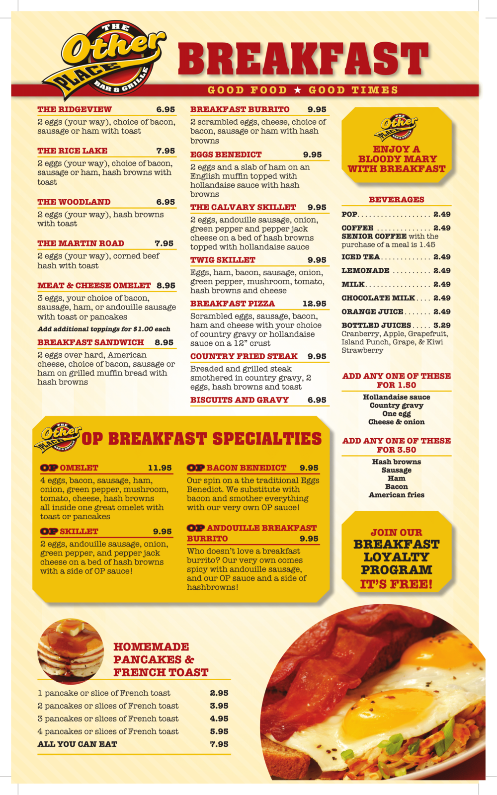 Ally S All Day Breakfast Place Menu
