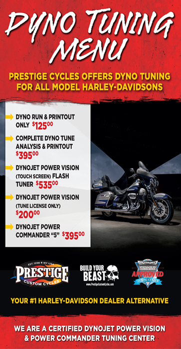 Dyno Tuning Prestige Custom Cycles Elmsford, NY (914) 592-2200