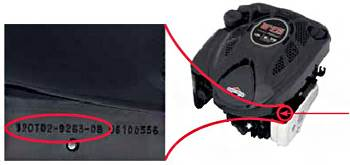 Engine Model and Serial Number Location Information
