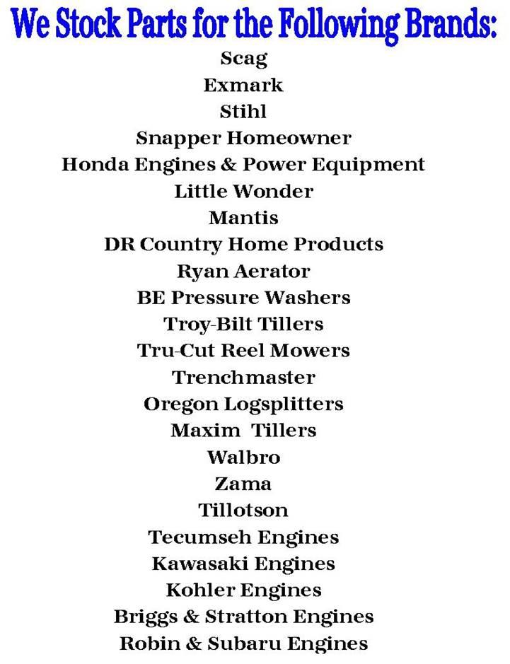 Parts Department Jack Peek's Sales, Inc  Palmetto, GA (770) 463-3156