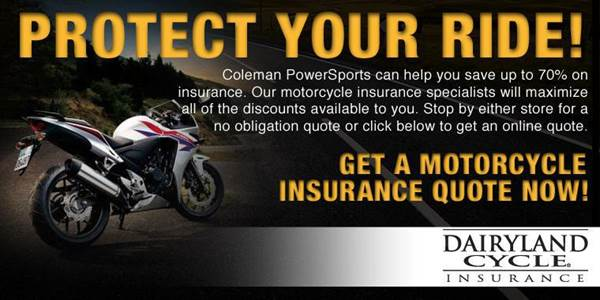 motorcycle insurance coleman powersports