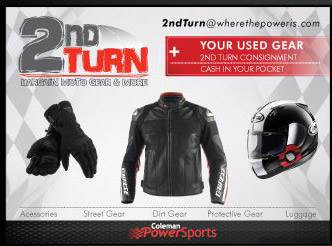 2nd Turn Used Motorcycle Gear and Accessories Coleman