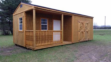 Side Porch Cabin Lark Lawn & Garden, Inc