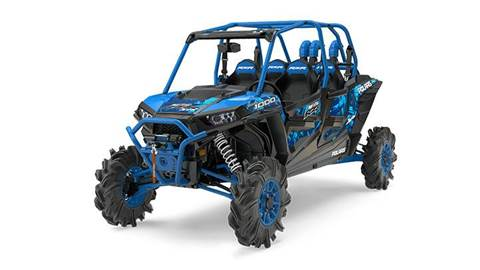 2017 RZR XP4 1000 EPS High Lifter Edition Velocity Blue