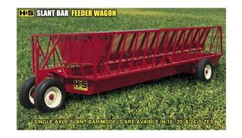 2017 24' Single Axle Slant Bar Feeder Wagon