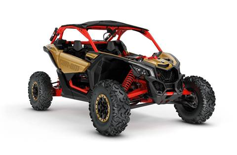2018 Maverick™ X3 X™ rs Turbo R - Gold & Can-Am Red
