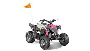 2018 OUTLAW 110 EFI, AVALANCHE GREY/PINK POWER