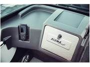 Stock Image: Passenger Console with Lockable Glove Box