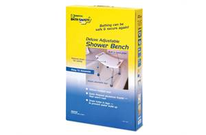 ADJUSTABLE SHOWER BENCHES - WHITE