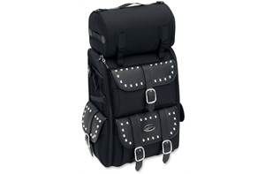 S3500S Deluxe Sissy Bar Bag with Studs