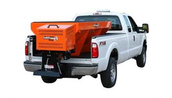 2018 2.0 Cubic Yard Gas Painted Orange Steel Hopper Spreader -Extended Chute