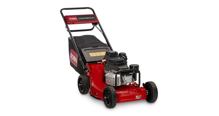 Toro® heavy duty self-propelled Kawasaki mower in front of a white background