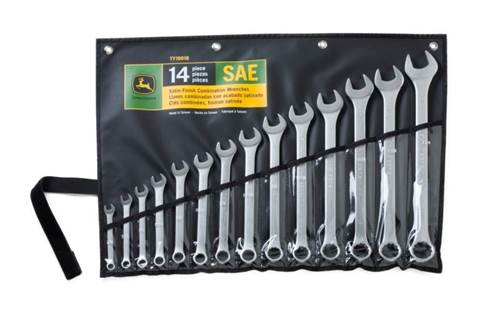 2018 TY19918 SAE combination wrench set with rack, 14-pc.