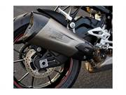 HP titanium rear exhaust as standard