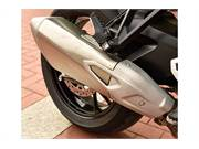 Strikingly designed rear exhaust