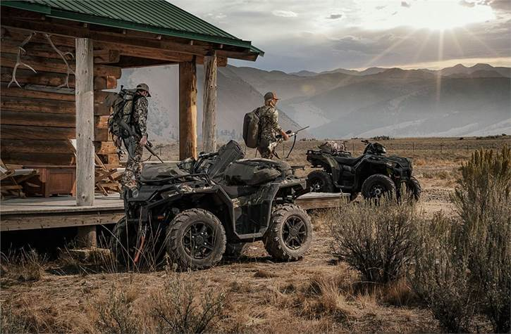 ATVs geared up for hunting