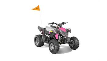 2019 OUTLAW 110 EFI, AVALANCHE GREY/PINK POWER