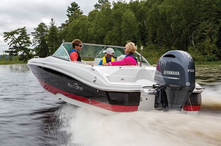 Yamaha Outboard in use on a Nautic Star boat