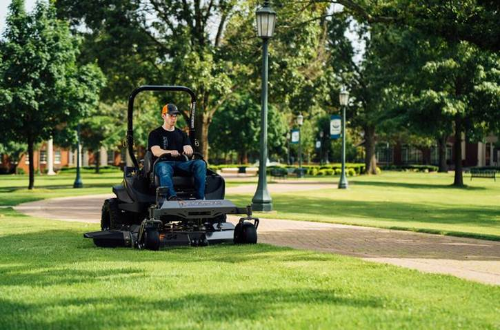 Spartan RT Mower in the park