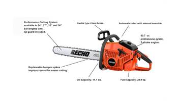"2019 CS-800P 27"" - 80.7 cc Chain Saw"