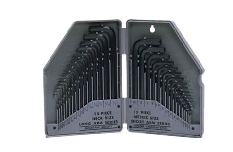 2019 TY19995 30-piece SAE and Metric Hex Wrench Set