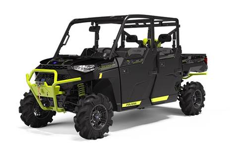 2020 RANGER CREW XP® 1000 High Lifter Edition Onyx Black with Lime Squeeze Accents