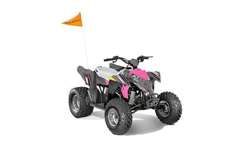 2020 Outlaw® 110 - Avalanche Gray/Pink Power