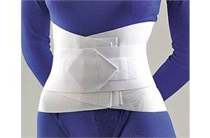 LUMBAR SACRAL SUPPORT WITH OVERLAP ABDOM BELT 10""