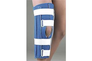 BREATHABLE UNIVERSAL CUTAWAY KNEE IMMOBILIZER