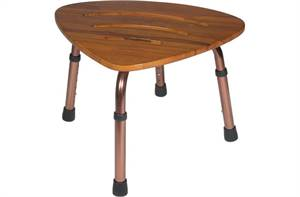 ADJUSTABLE HEIGHT TEAK BATH BENCH STOOL