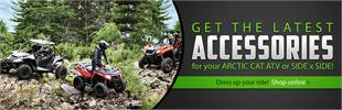 Click here to browse the latest Arctic Cat ATV and side x side accessories online!