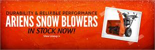 Click here to view Ariens snow blowers.