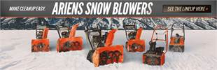 Ariens Snow Blowers: Click here to view the lineup.