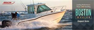 The Boston Whaler Conquest series is leading in performance, power, and handling. Click here to view