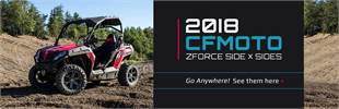 2018 CFMOTO ZFORCE Side x Sides: Click here to view the lineup.