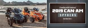 2019 Can-Am Spyders: Click here to view the models.