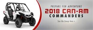 2018 Can-Am Commanders: Click here to view the models.