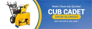Cub Cadet Snow Blowers: Click here to view the models.