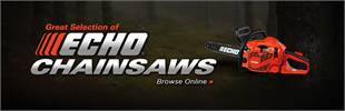 Click here to browse our great selection of ECHO chainsaws.