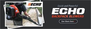 ECHO Backpack Blowers: Click here to view the models.
