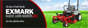 Exmark Radius Lawn Mowers: Click here to view the models.