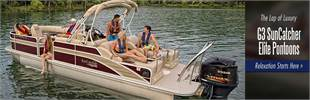 Relaxation starts with a G3 SunCatcher Elite pontoon. Click here to see the lineup.