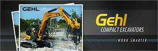 Gehl Compact Excavators: Click here to view the models.