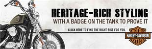 Harley-Davidson®: Click here to find the right bike for you.
