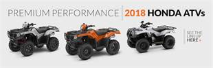 2018 Honda ATVs: Click here to view the models.